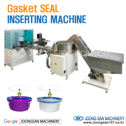 Gasket seal inserting machine