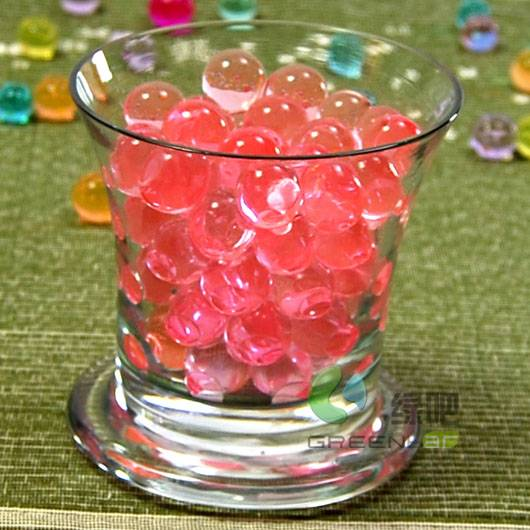 Water gel beads for decoration
