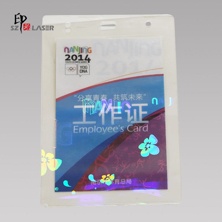 Hot laminating security id hologram overlay pouches