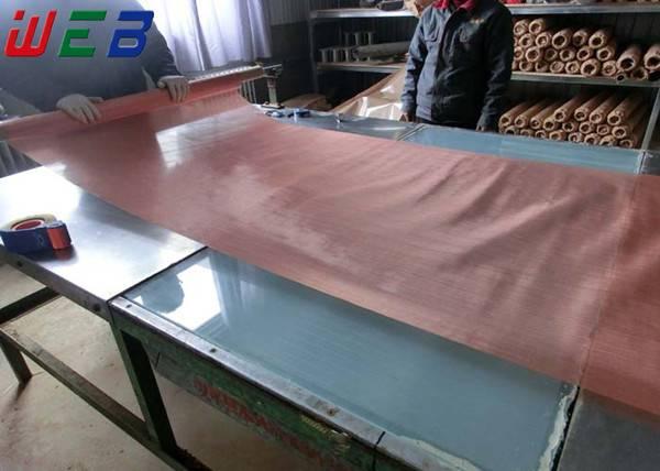 Fine pure copper mesh (99.8% high purity)