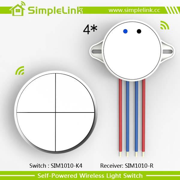 Push button wireless remote control light switch