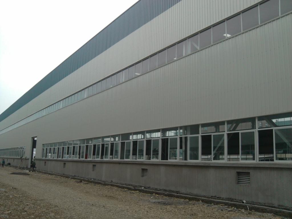 Double storey steel structure warehouse