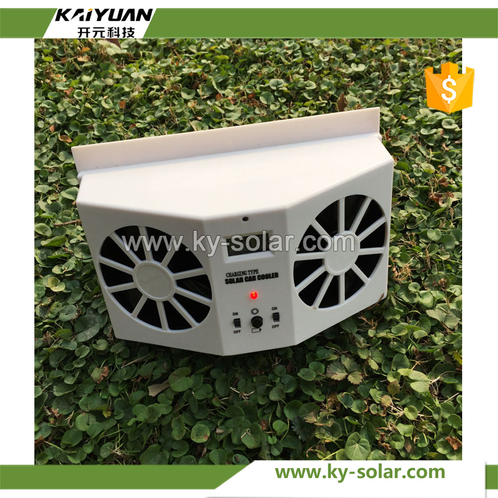 2017 Sell most 2w solar energy exhaust car fan in factory price