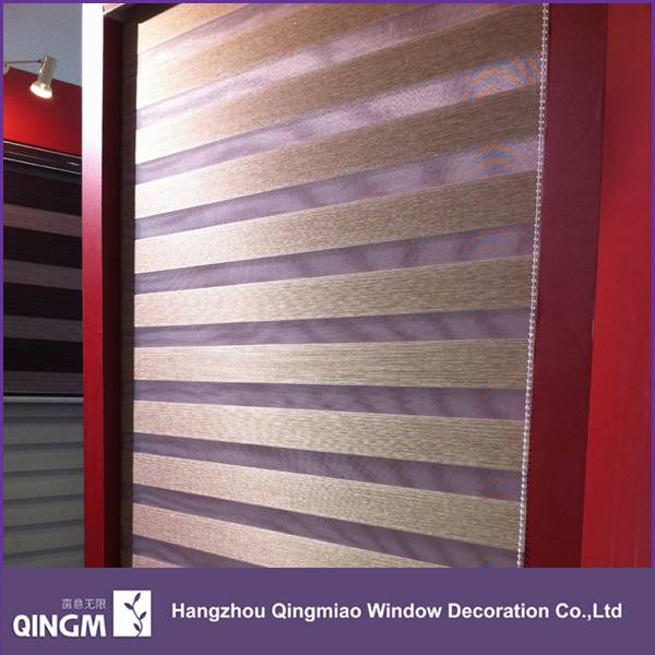QINGM Free Sample Available High-grade Zebra Blind Polyester Fabric