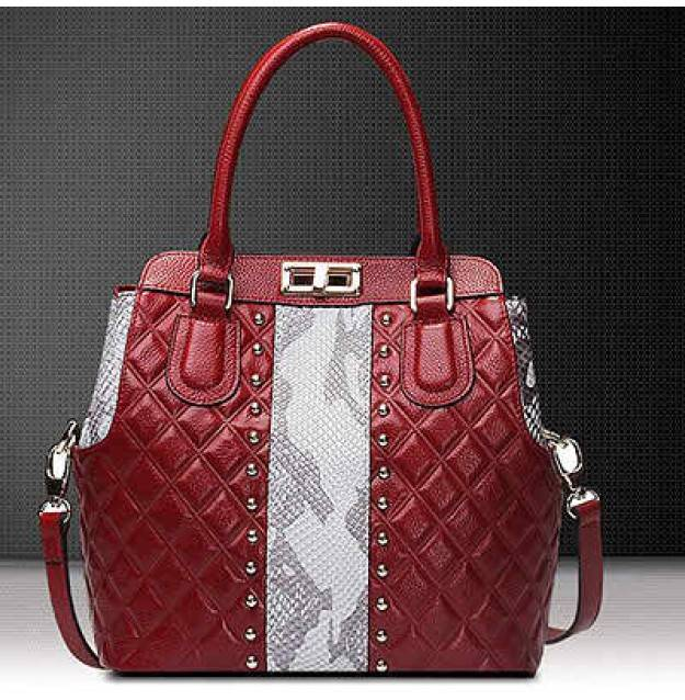 Leather bags women wholesale guangzhou fashion modeling tote handbags studded bags EMG4375