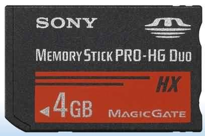 4GB Memory Stick PRO-HG Duo Memory Card for PSP USD4.95/PCS