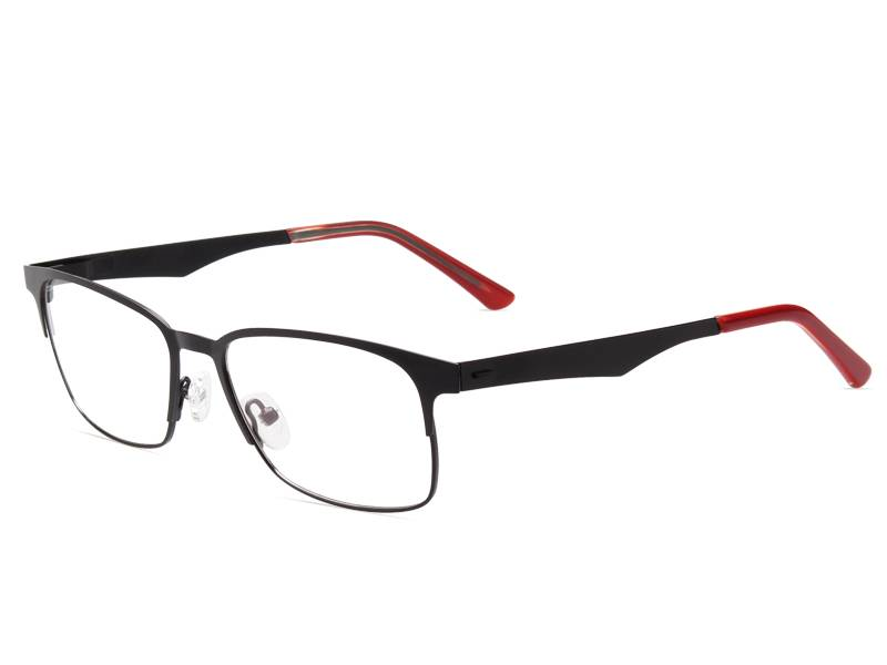 Fashion design flexible super light weight stainless steel metal optical frame JC8025