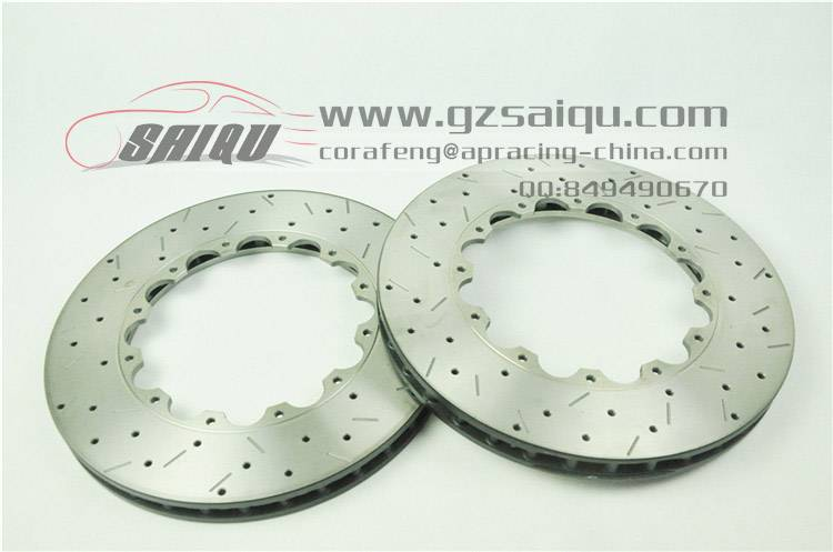DICKASS Auto Brake Disc 362*32mm Drilled and Curved Grooved Surface