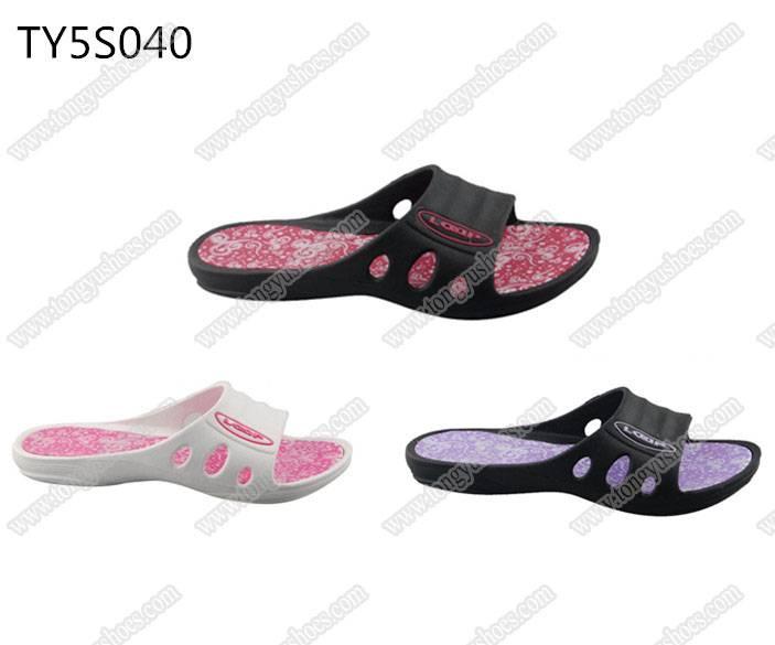 trend fancy fashion printing sole ladies bath & pool sandals