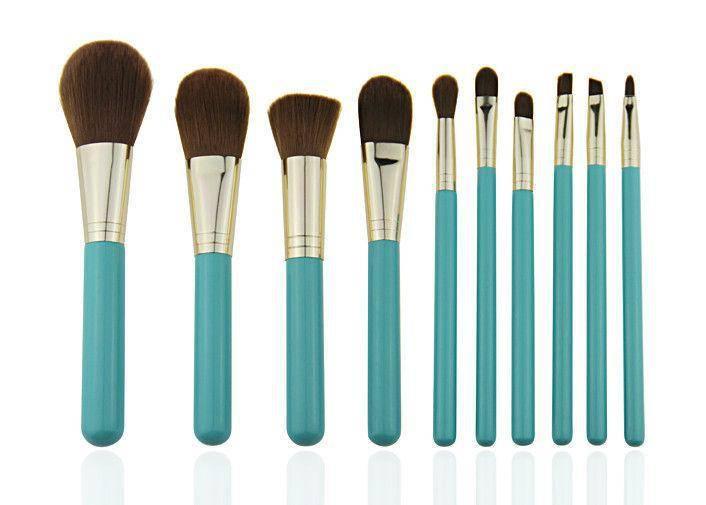 Synthetic Hair Professional Makeup Brush Set / 10 Piece Makeup Brush Set