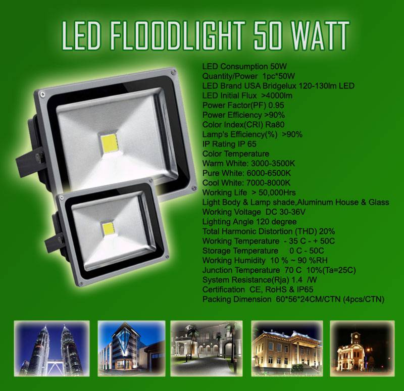 20W Waterproof LED Floodlight With CE ROHS FCC