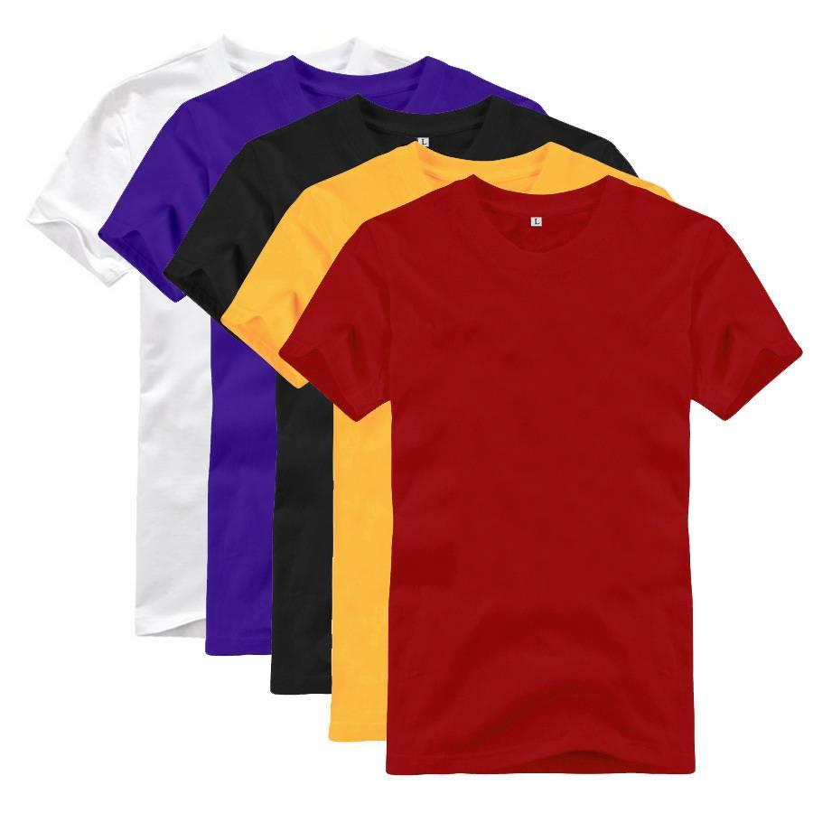 T-Shirt Basic Plain Blank Crew O Neckline Man Tees Shirt
