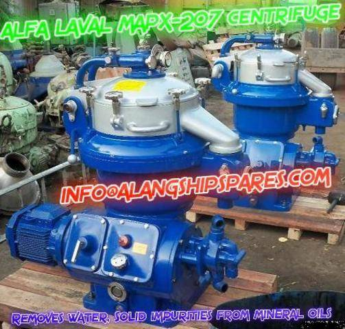 Reconditioned Alfa Laval MAPX-207 and MOPX-207 oil purifier for lube oil , Diesel oil purification
