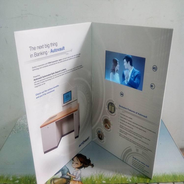 5inch lcd wedding invitation cards/vedio advertising brochure/greeting card
