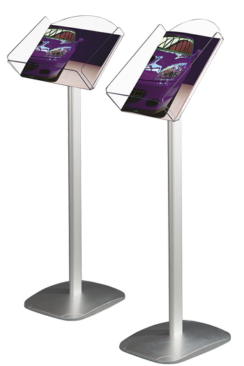 poster stand with arylic box