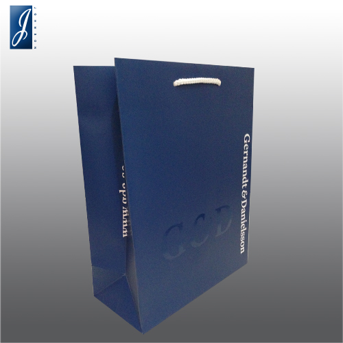 Customized medium promotional paper bag for G&D