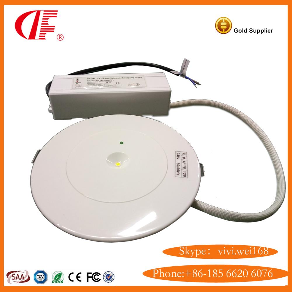 LED Self testing Emergency Downight , Mini Maintained Emergency Light, Dustproof Emergency Light