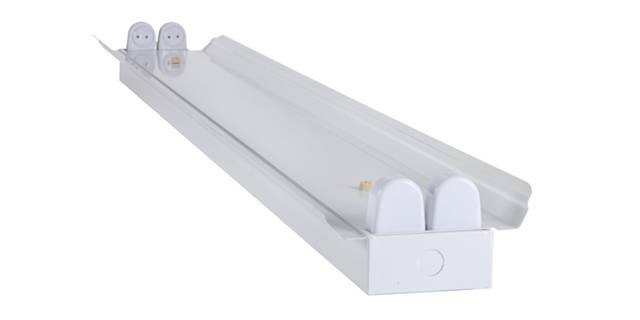 double tube light fixture lighting bracket with cover