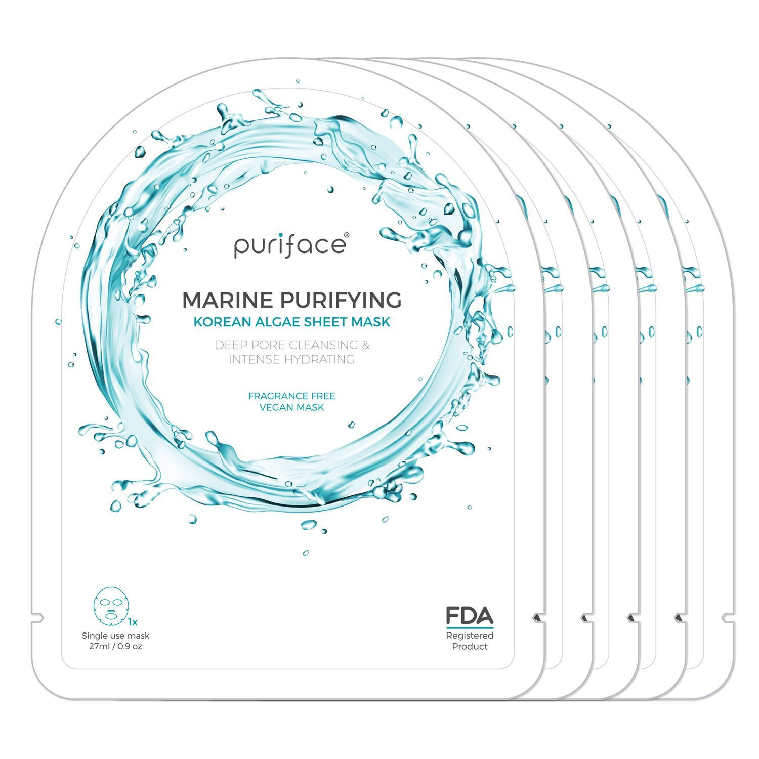 [Puriface][Marine Purifying] Vegan FDA Registered Korean Beauty Facial Skin Care Hydrating Mask