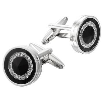 crystal cufflinks