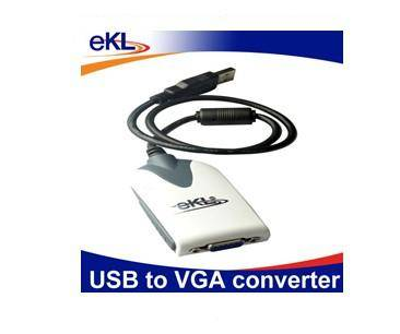 eKL USB to VGA converter adapter USB 2.0 for Extra Multiple Display Monitor