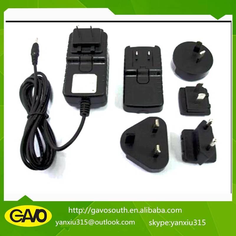 factory best ac dc 9-36w multi-function interchangeable plug adapter