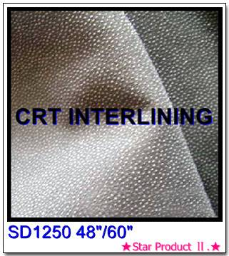 Texturised woven fusible interlining(SD1250)