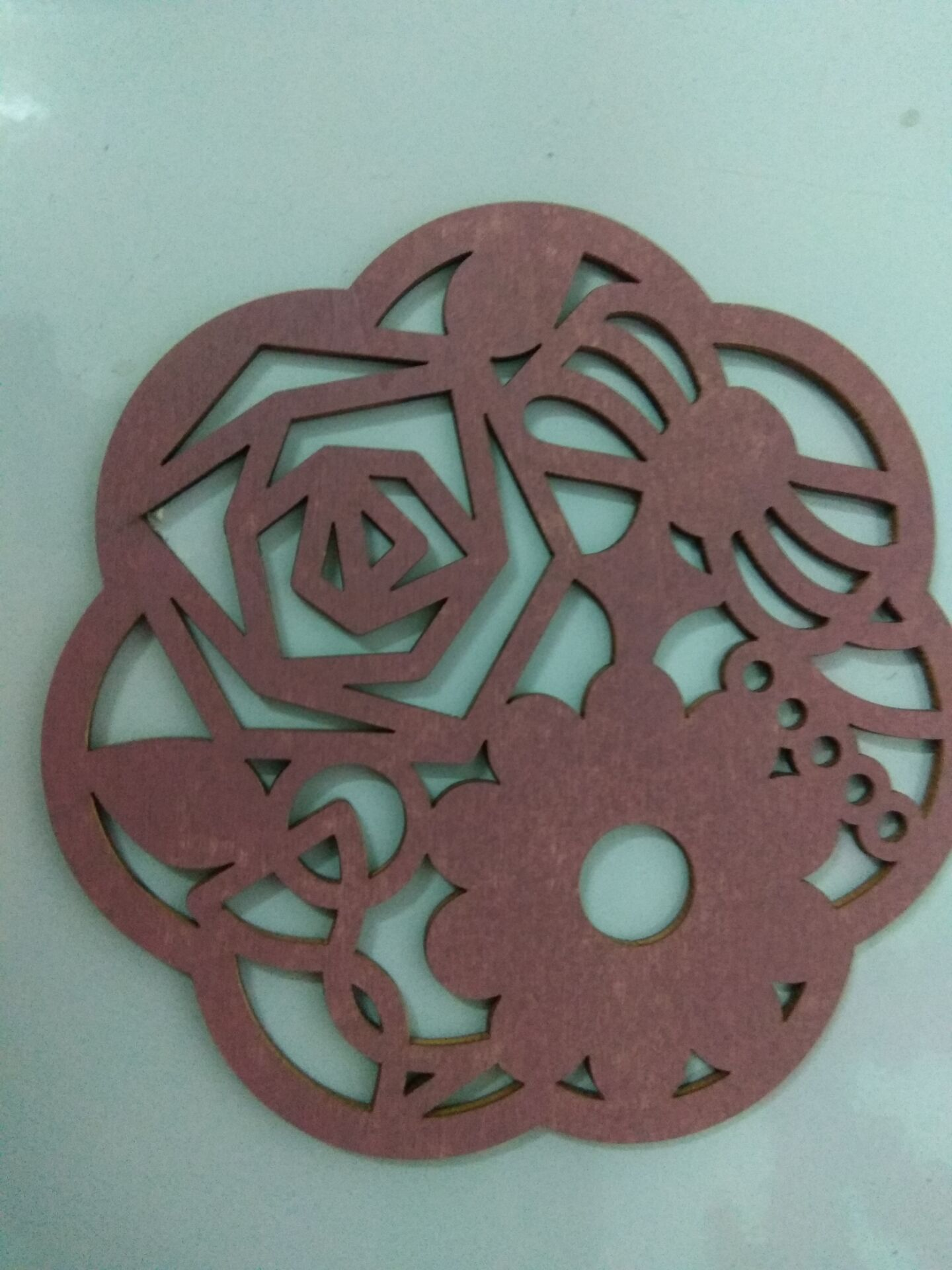 pink-red wood coaster,colourful wood cup mat.wood plate mat,wood cushion,
