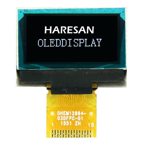 0.96 Inch White OLED Display 15 Pin