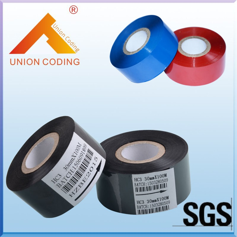 Black color 30mm width 120M length Hot stamping foil with ROHS SGS certificate