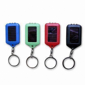 Solar Flashlight Keychains