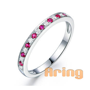 Wholesale 18k Gold Jewelry Diamond Ruby Rings solid gold jewelry