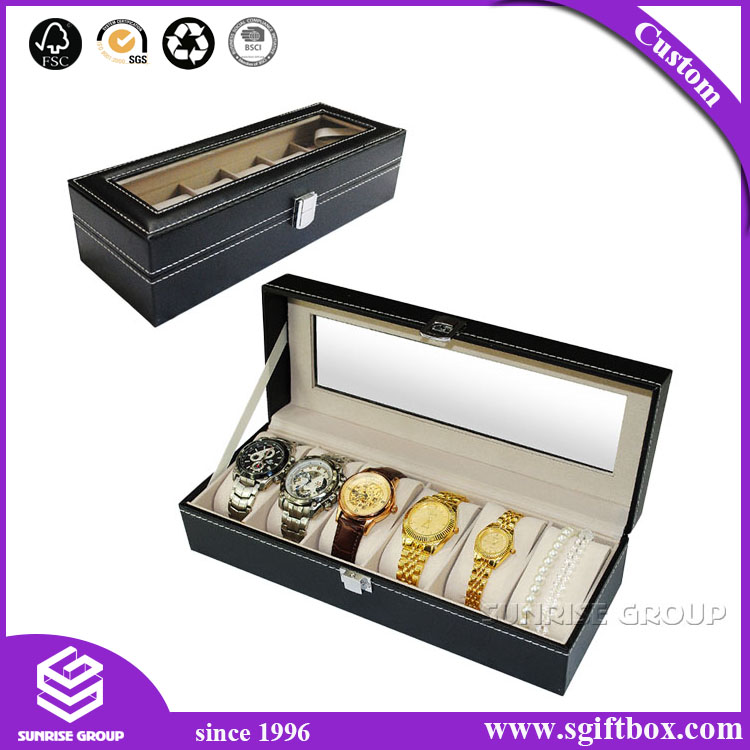 High Quality MDF Packaging Gift Jewelry Watch Box
