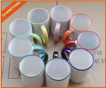Wholesale 11oz white ceramic sublimation blank mug,Promotional 11oz Inside Color Ceramic coffee Mug,