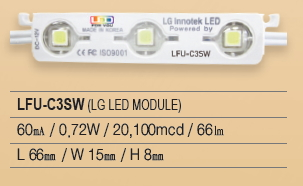LED Module, LG chip, 3P Series, LFU-C3SW