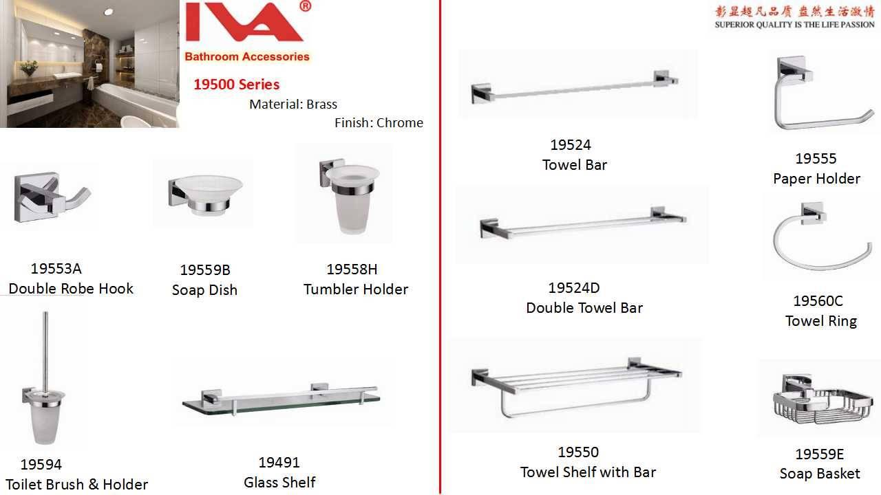 brass chrome bathroom accessory sets