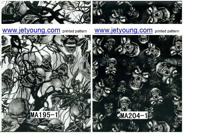 Hydrographic Water Transfer Printing Film Skull Printed Film Hydro Graphic Film Water Transfer Print