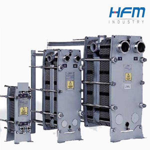Industrial heavy oil plate heat exchanger