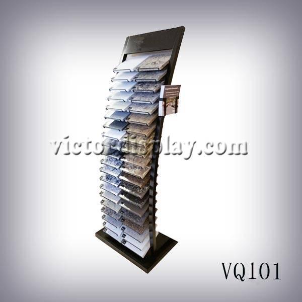 display tower for quartz stone samples