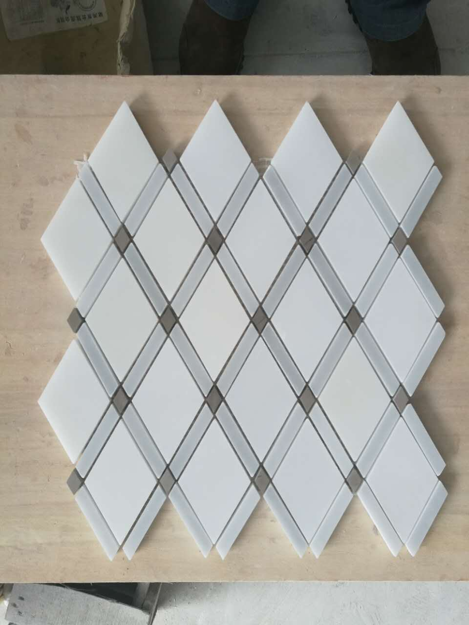 thassos white polished mosaic tile