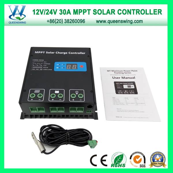 30A MPPT Solar Controller 12/24V Auto Solar Charge Controller (QW-MT30A)