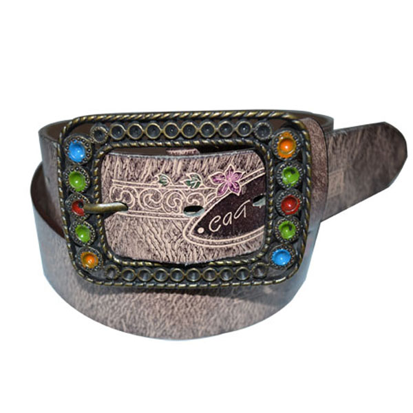 Retro Style High Fashion PU Leather Belt with Designer Buckle [JB17072-1-SP]