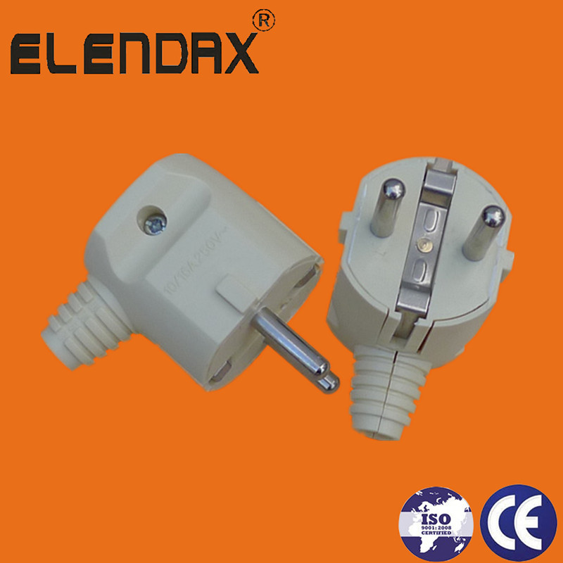 90 degree angle 2 pin electrical plug(P7056)