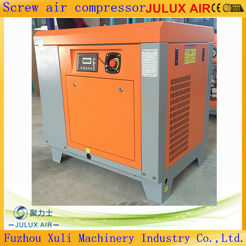 Reliable 7.5kw 10hp Belt Driven Oil Lubricate Screw Air Compressor