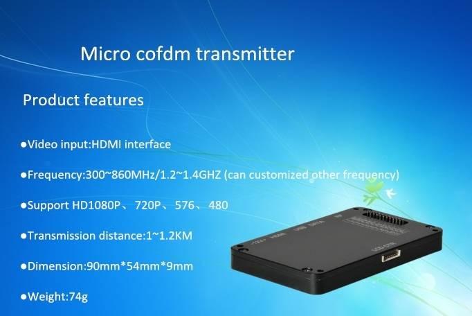 Mini wireless audio video transmitter for UAV system