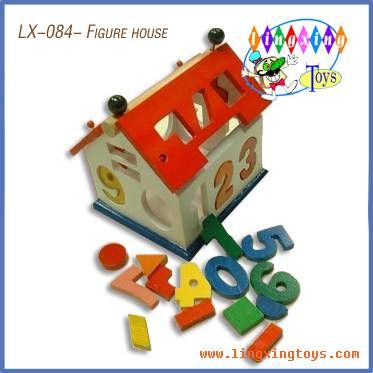 wooden toys,wooden house,figure house(LX-084)