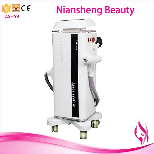 Advanced cooling system q switch nd yag laser tattoo removal machine