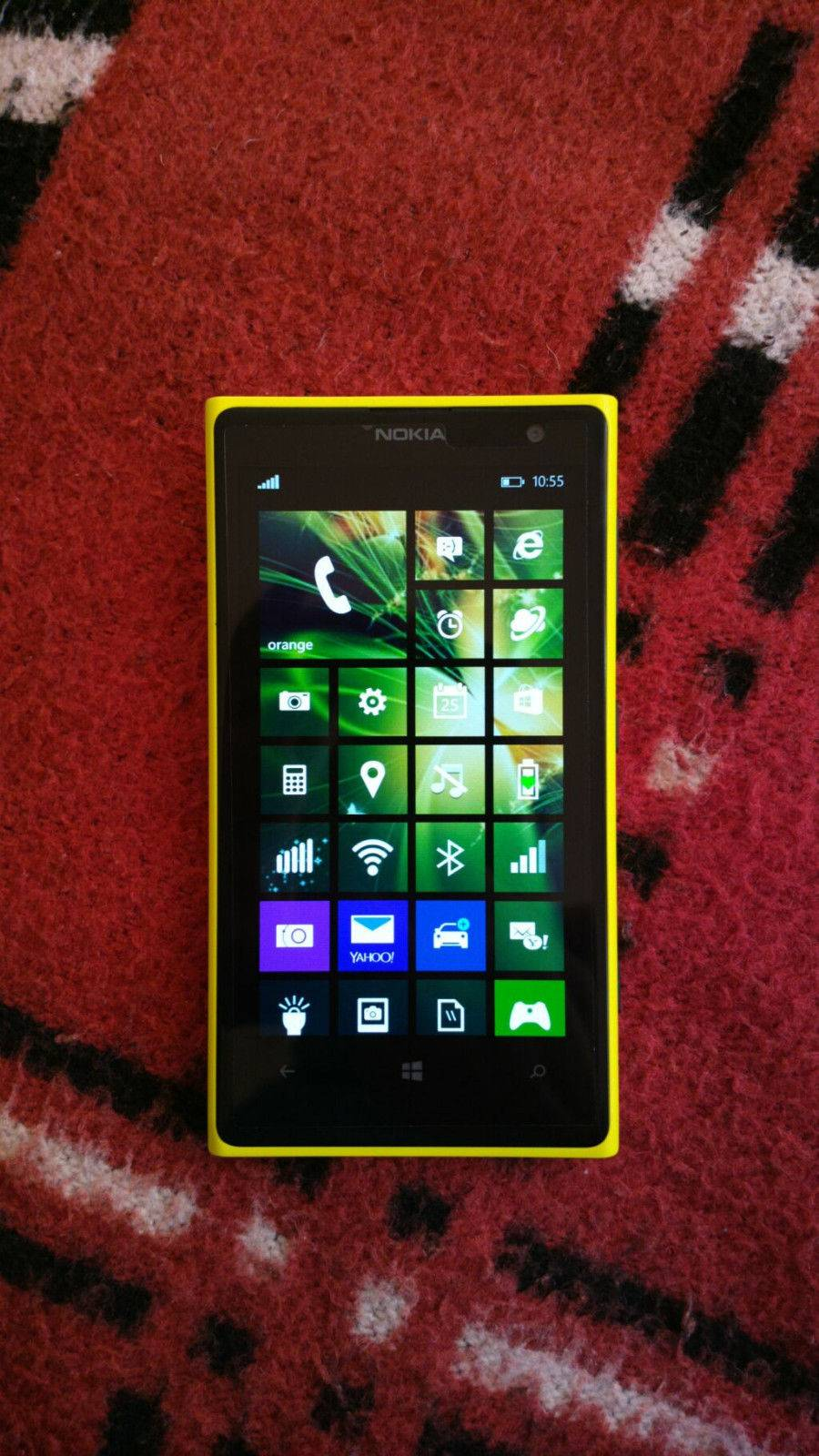 EXCELLENT Nokia Lumia 1020 32GB Matte Yellow Factory Unlocked Worldwide GIFT