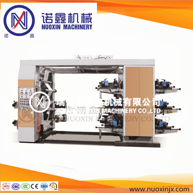 High quality 6 color LDPE/HDPE film flexo printing machine/flexographic printing machine