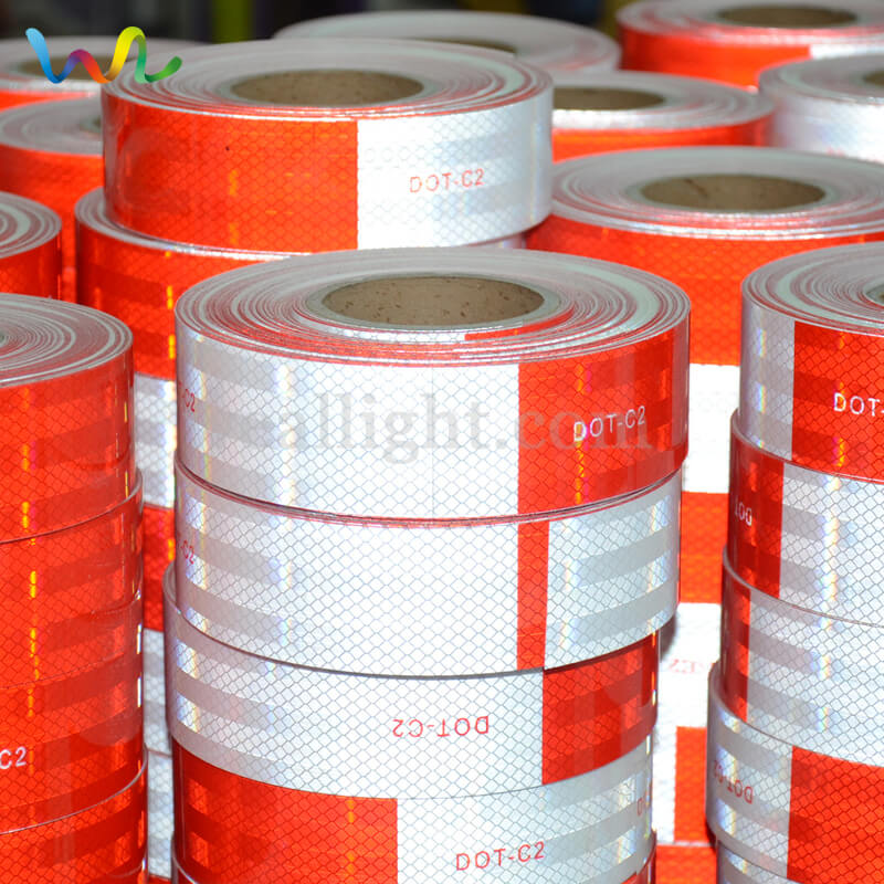 Red And White Reflective Tape, Reflective Tape, DOT Reflective Tape